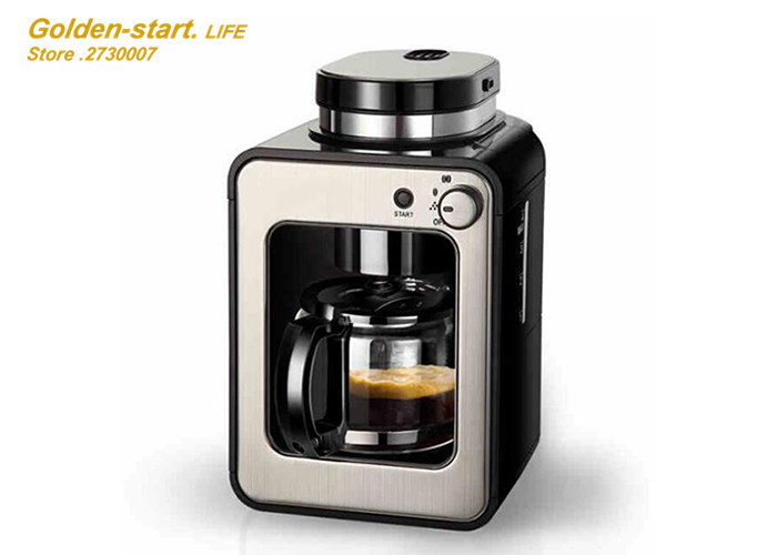 Full automatic American coffee machine home office intelligent induction grinder coffee maker ...
