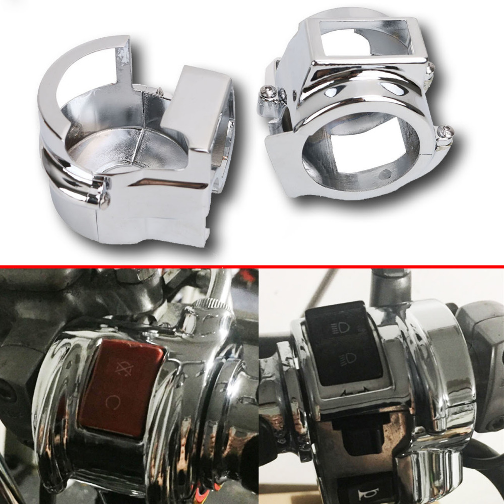 Chrome Switch Housing Cover for Honda VT 600 VLX VT 750 Spirit / ACE / Aero VTX 1300 Moto Bike Motorcycle Accessories  #MX007 chrome air cleaner cone intake filter for honda shadow ace aero spirit 750 1100