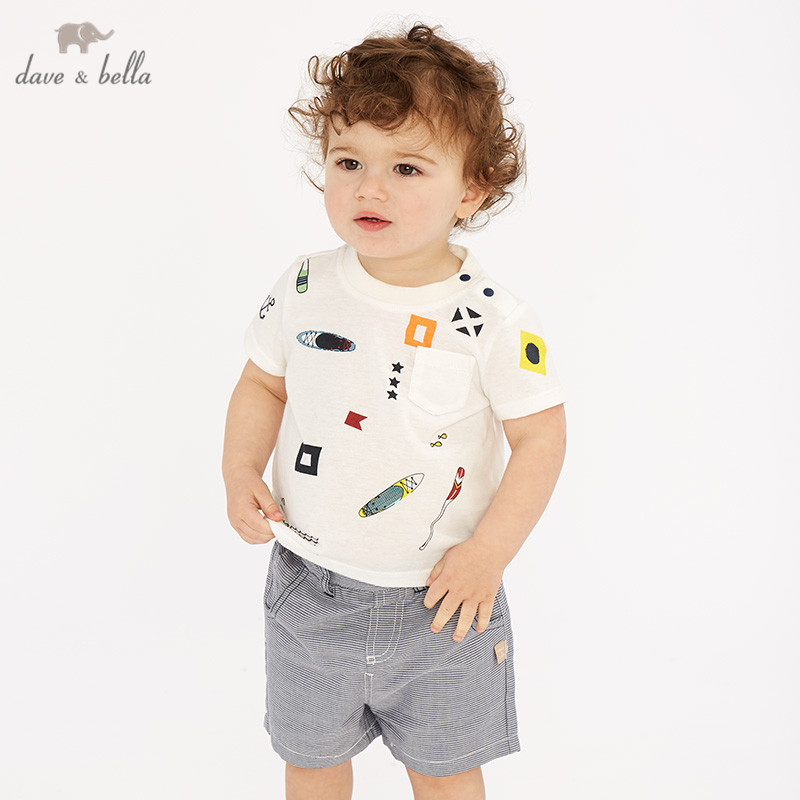 DB10467 dave bella summer baby boys fashion clothing sets casual short sleeve suits children beige clothesDB10467 dave bella summer baby boys fashion clothing sets casual short sleeve suits children beige clothes