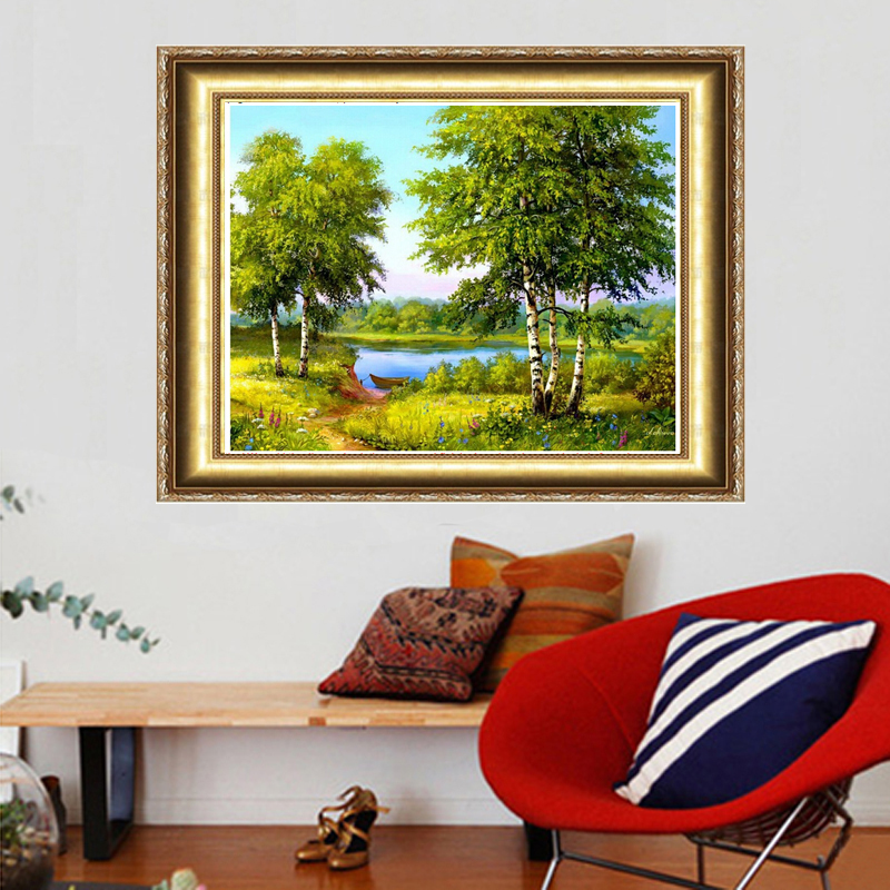 2018 Direct Selling New Trees Needlework Diy Diamond Painting Cross Stitch Square Embroidery Home Decoration Free Shipping