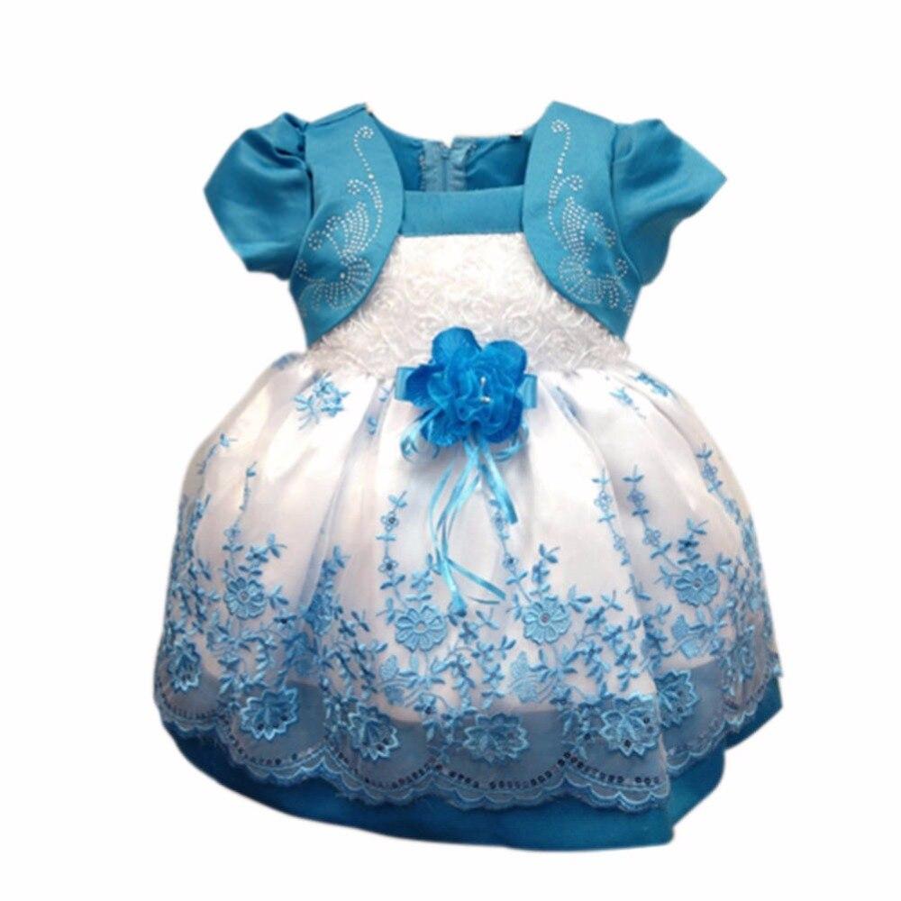 5e8f2a2a4 € 4.92 27% de DESCUENTO|Vestido de niña tutú encaje princesa Niñas Ropa  flores niño niña vestido de bautizo vestidos de bebé para fiesta ...