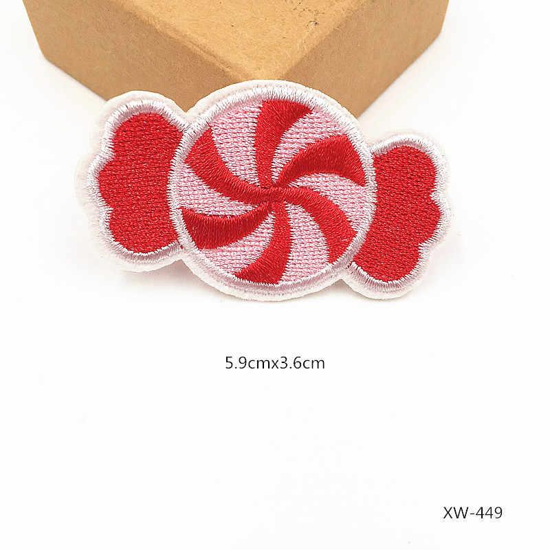 1 шт. фрукты бургер патчи для одежда из железа на заплатка для одежды наклейки для одежды вышивка патч полосы значки