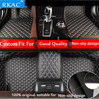 RKAC Auto car Foot floor mat Custom fit For Honda CRV XRV Odyssey Jazz City CRIDER VEZEL Accord civic waterproof car accessories