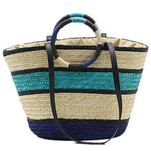 купить Women Beach Tote Bags for Fashion Tassel Drawstring Straw Bag Handmade Woven High Quality Shoulder Bags Ladies Shopping Tote Bag онлайн