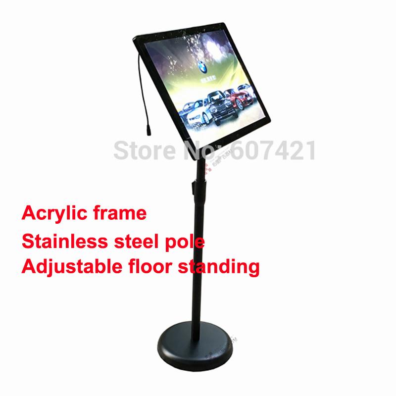 led sign holder floor standing