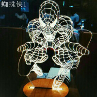 2017 Home New Creative DIY 3 D Iron Man USB Small Night Light Foreign Trade The