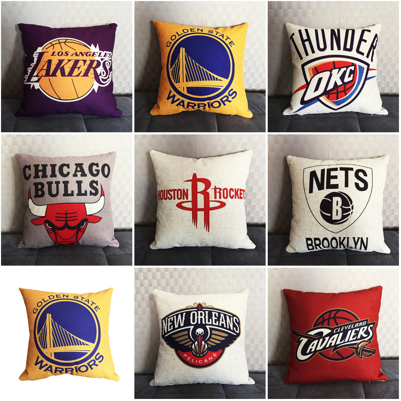 New 2019 NEW The world's top team logo Cushion Cover  Decoration Pillow Case Cotton Linen Chair Sofa  Home Throw Pillow Cover