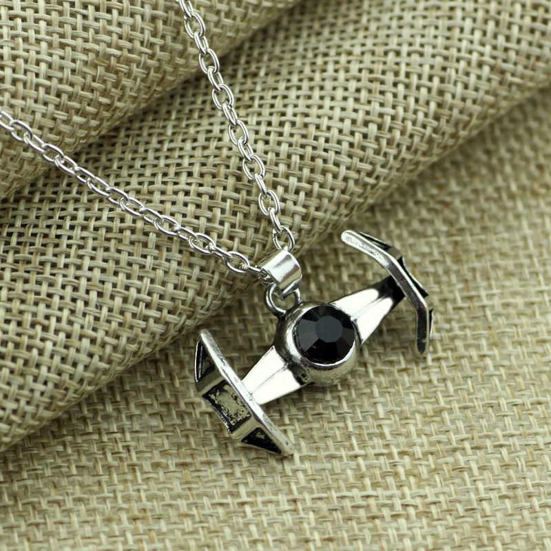 Звездные войны ожерелье Пробуждение силы гравированное X1 галстук ожерелье борца Дарт Вейдер кулон космический корабль Сокол колье ювелирные изделия