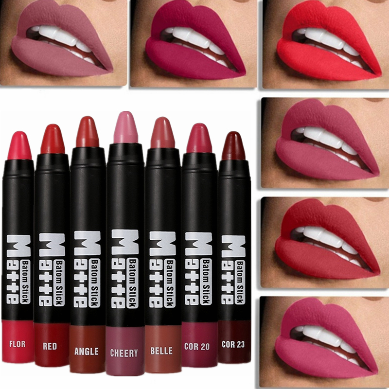 Matte Lipstick Makeup Waterproof Sexy Lips Stick Pencils