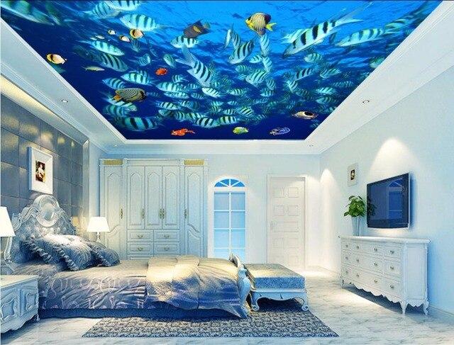 Custom Photo Ceiling Murals Wallpaper Home Decor Wall For Living Room Sea