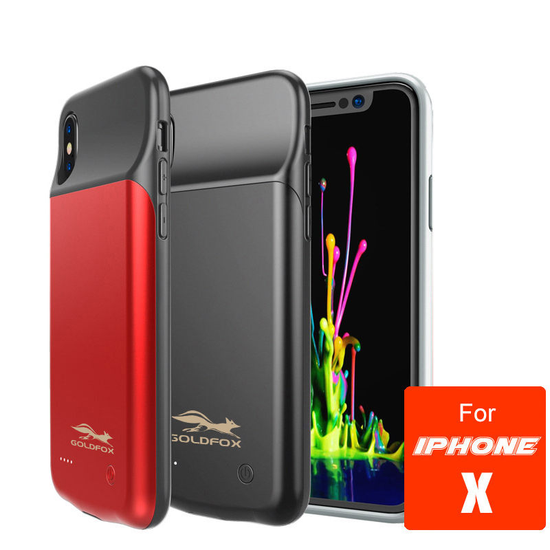 For iPhone X 3200Ah Power Bank Case Battery Charging Ultra Slim External Pack Backup Portable Battery Charger Case for iPhone 10