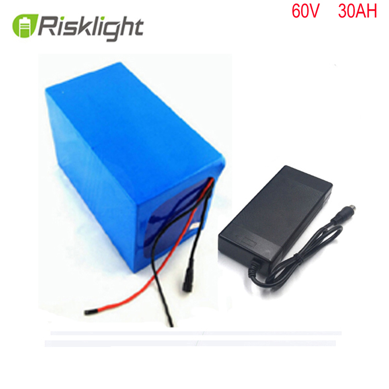 Rechargable li-ion battery pack 60v  Lithium ion battery  60V 30AH 3000W for electric motorcycle EV with 50A BMS ,CHARGER protection circuit 3s 30a bms pcm pcb battery protection board for 11 1v li ion lithium battery cell pack sh04030029 lb3s30a