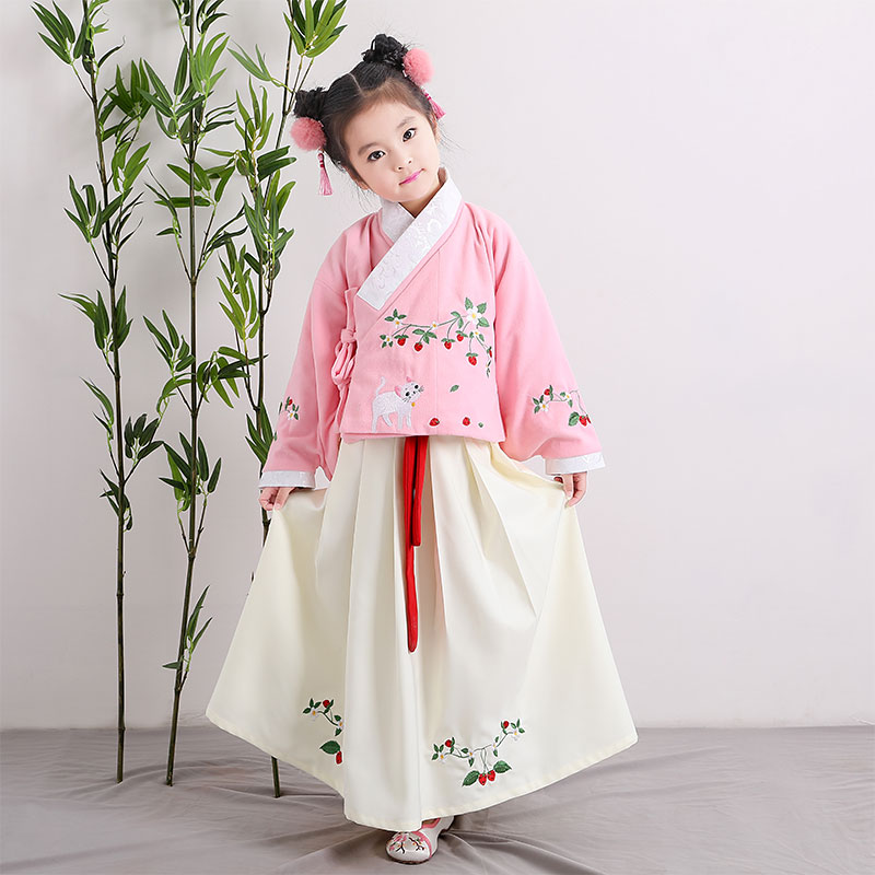 2018 autumn christmas dance costume for kids chinese tang ancient costume traditional classical children kid girls chinese hanfu 2018 autumn girl ancient chinese traditional national costume hanfu dress princess children hanfu dresses cosplay clothing girls