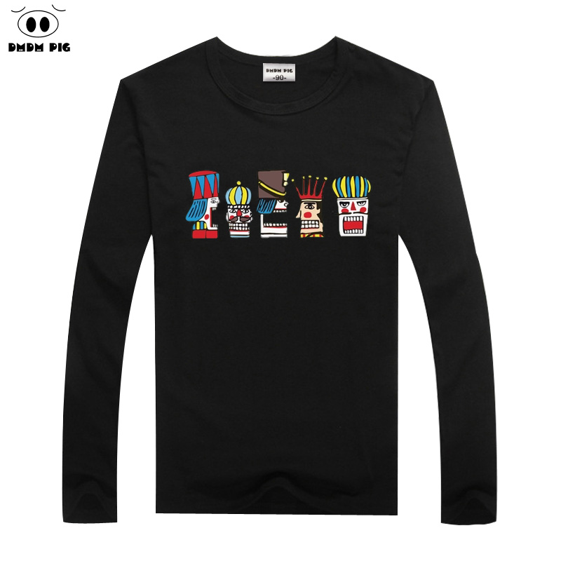 DMDM PIG Cartoon Long Sleeve T-Shirts For Boys Girls Tops Tee Baby Boy Child T Shirts Winter TShirts 2 3 4 5 6 7 8 Years Teens