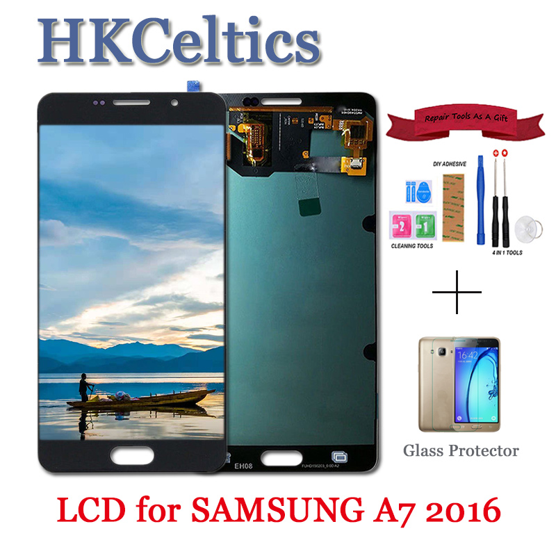 Replacement LCDs Screen For Samsung Galaxy A7 2016 A710 A710F A710M LCD Display with Touch screen