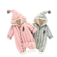 2018 New Snowsuit Baby Overalls Winter Jumpsuit Clothes Boy Girl Thick Warm Cotton Outerwear Coat Toddler Kids Snow Wear Rompers