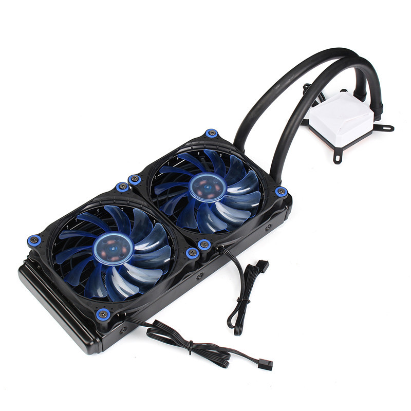 Ultra Quiet CPU Fan Water Liquid Cooling System Copper Aluminum Cooler Base Graphics Card Water Cooling Radiator For Intel/AMD 5pcs lot pure copper broken groove memory mos radiator fin raspberry pi chip notebook radiator 14 14 4 0mm copper heatsink