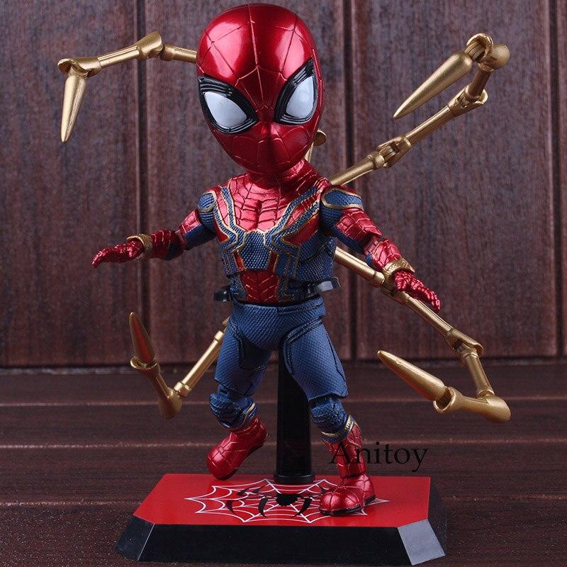 Figurine Marvel Avengers 3 figurines de guerre Infinity Spider-man figurine PVC Spiderman jouets à collectionner modèle jouets cadeau 17 cm