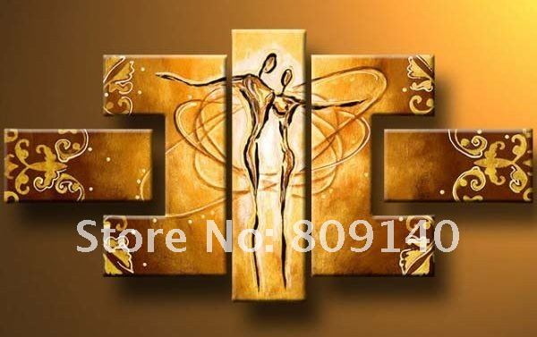 Free Shipping Abstract Oil Painting Figure Modern Couple Dancing Portrait Decoration High