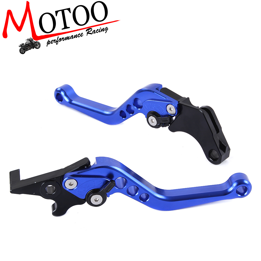 Motoo - Motorcycle CNC aluminum Shorty Adjustable Brake Clutch Levers For Honda GROM MSX125 2013 - 2015 billet alu folding adjustable brake clutch levers for motoguzzi griso 850 breva 1100 norge 1200 06 2013 07 08 1200 sport stelvio