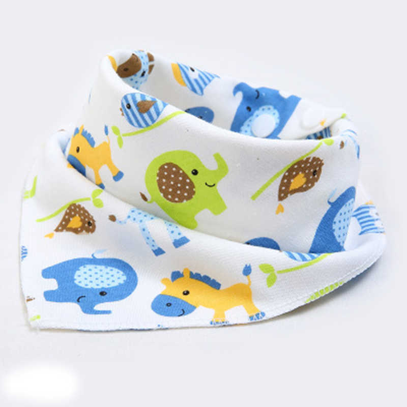 Baby Bibs High quality triangle double layers bib Cartoon Printing Cotton Newborn Infant Girls And Boys Scarf Bandana  Baby Stuf