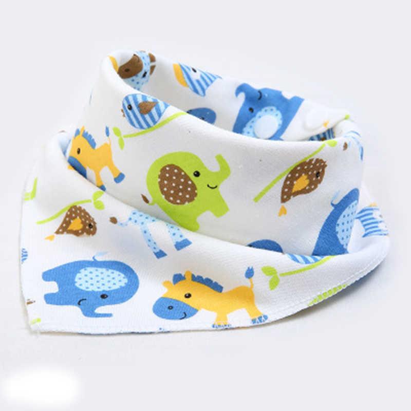 Babadores do bebê de alta qualidade triângulo camadas duplas bib impressão dos desenhos animados algodão recém-nascido infantil meninas e meninos cachecol bandana do bebê stuf