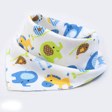Baby Bibs High quality triangle double layers bib Cartoon Printing Cotton Newborn Infant Girls And Boys Scarf Bandana Baby Stuf(China)
