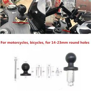 """Image 3 - Montagem da bicicleta da motocicleta, base preta da haste da forquilha com 1 """"bola para a montagem da ram para gopro"""