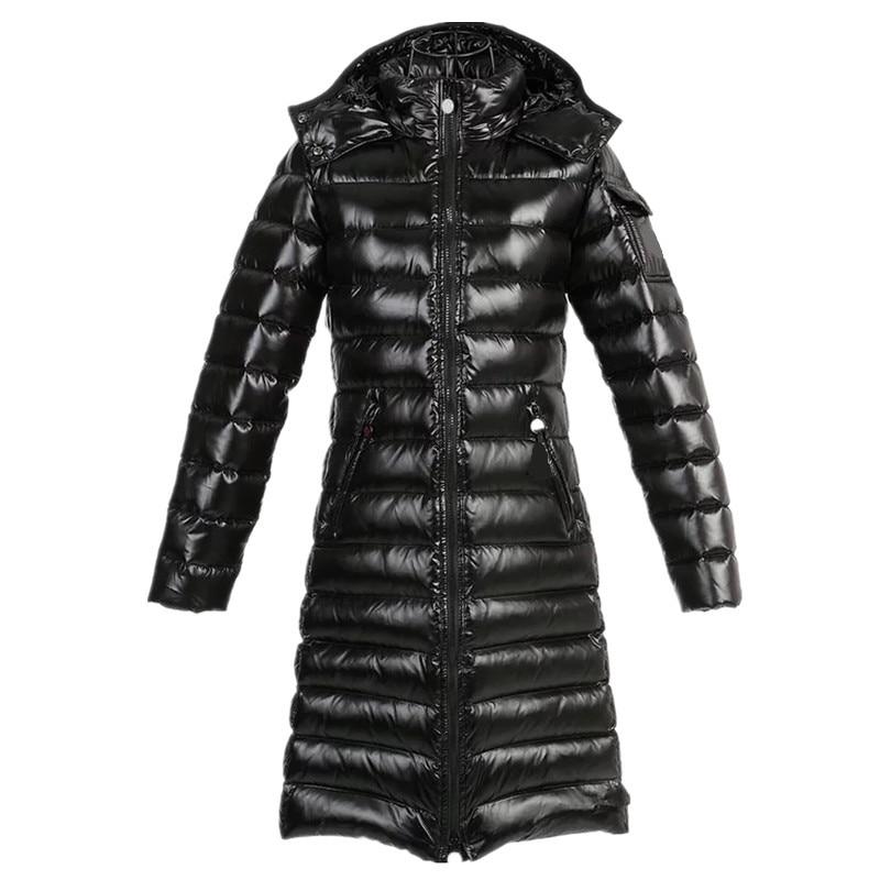 Women Ultra Light Down Jacket 2019 New Autumn Winter Warm 90% White Duck Down Parkas Long Hooded Lightweight Simple Coat PJ335