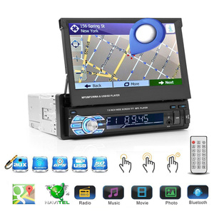 "Image 3 - Podofo 7 ""Android Mirror LinkรถวิทยุMP5เครื่องเล่นบลูทูธGPS DVD AUX IN /FM AutoradioมัลติมีเดียสำหรับUniversalสเตอริโอ"