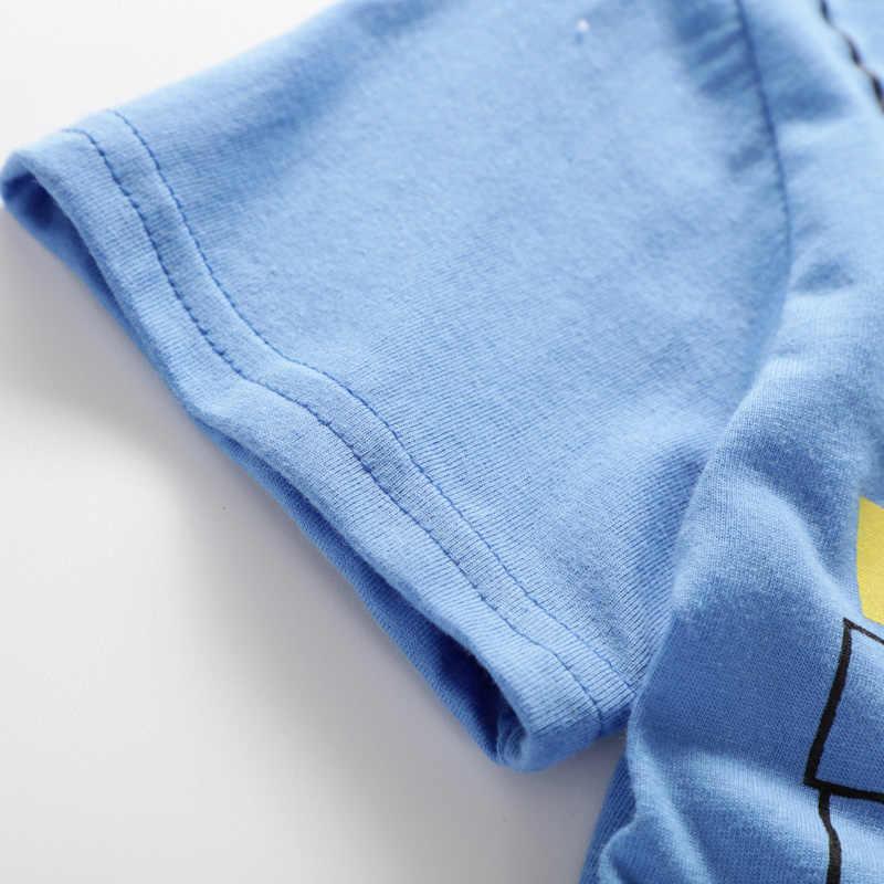 2019 одежда для малышей Новые летние комплекты детской одежды для мальчиков и девочек, хлопковые комплекты для малышей с героями мультфильмов От 0 до 4 лет Одежда для маленьких детей 2 предмета