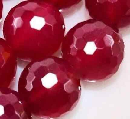 """10mm 100% Natural Faceted Red stone jewelry Beads 15"""""""