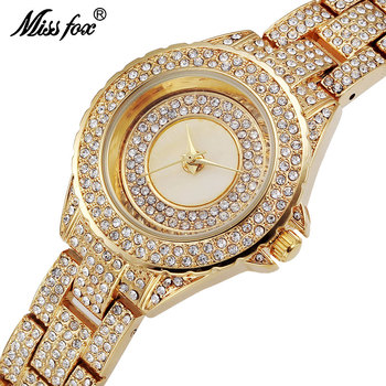 Missfox Miss Fox marca moda relojes Top marca de lujo de las mujeres relojes  de cuarzo reloj mujeres de oro relogios femininos 171434592618