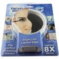 1 Pc swivel Espelho de Aumento 5X 8X com 6 Bult Em As Lâmpadas de Led e Com Otário Rotativo Espelho Espelho de Maquiagem Portátil Espelho Banho espelho