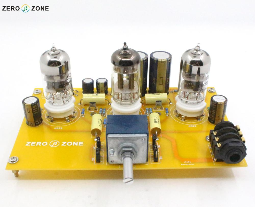 ZEROZONE TU1-EMP V2 Tube Headphone Amplifier Board 2X 6922 + 1X 12AT7 Tube + ALPS Potentiometer appj pa1502a tube headphone amplifier