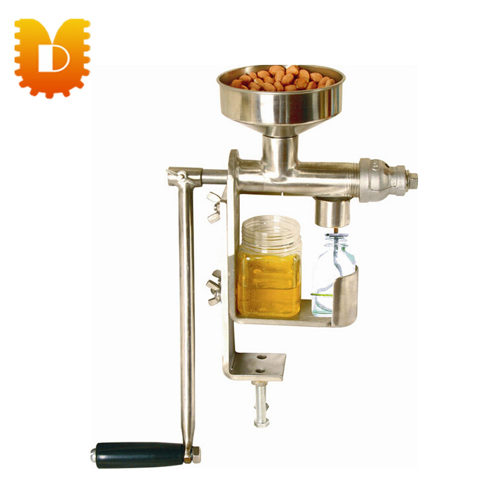 (Peanut,  sesame seed, sunflower seed,walnut, olive, coconut oil)Mini home use manual oil press machine small seed sunflower threshing machine sunflower seeds thresher sheller