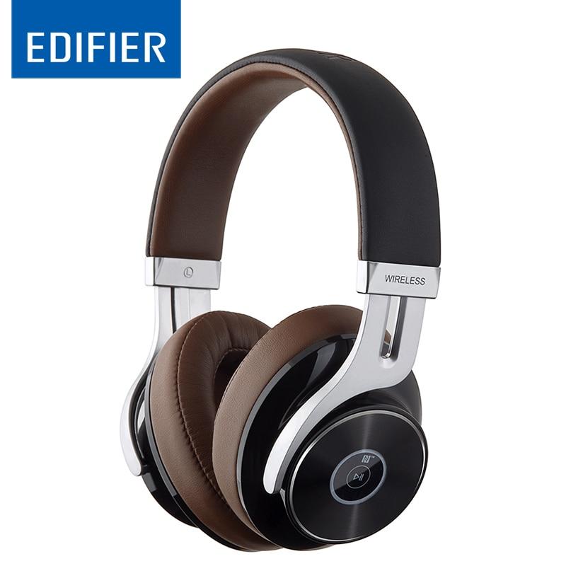 EDIFIER W855BT Over-ear Fones de Ouvido Bluetooth Estéreo Música Sem Fio Fone De Ouvido BT 4.1 com Microfone Cabo de 3.5mm AUX Para Jogos cabeça