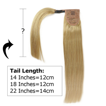 Isheeny бразильские человеческие волосы Remy для наращивания в виде хвоста прямые человеческие волосы для наращивания 14