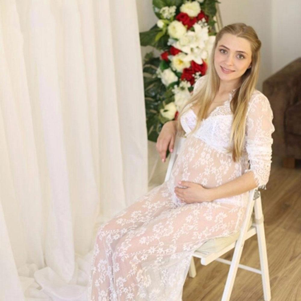 Elegant Maternity Dresses Lace Photography Pregnancy Dress Lactation Dresses Maternity Clothes Women Summer Dress Sexy Costumes