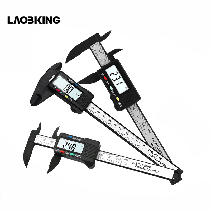 цена на 150mm 6 inch LCD Digital Electronic Carbon Fiber Vernier Caliper Gauge Micrometer Measuring Tool