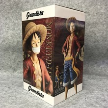 Anime One Piece Grandista ROS GROS Monkey Luffy PVC Action Figure Toy Doll Brinquedos Figurals Collection OP Model Gift