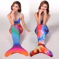 2018 Myle Factory unique design Direct Sale Lycra Full Scale Adult Mermaid Tails Swimmale Mermaid Tail Costume with Monofin