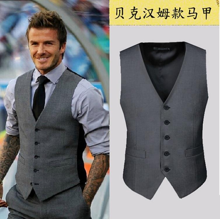 ddca6168abd New arrive gilets hot suit vest men spring 2017 fashion slim fitness men s  waistcoat blazer vests tops clothing HY822-in Vests from Men s Clothing on  ...