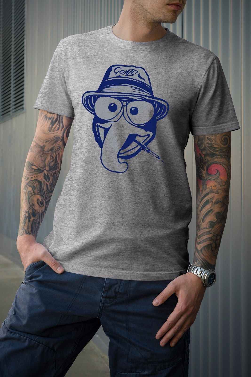 9d42bb463 Gonzo inspired T-Shirt Hunter S Thompson fear and loathing Summer Men'S fashion  Tee,