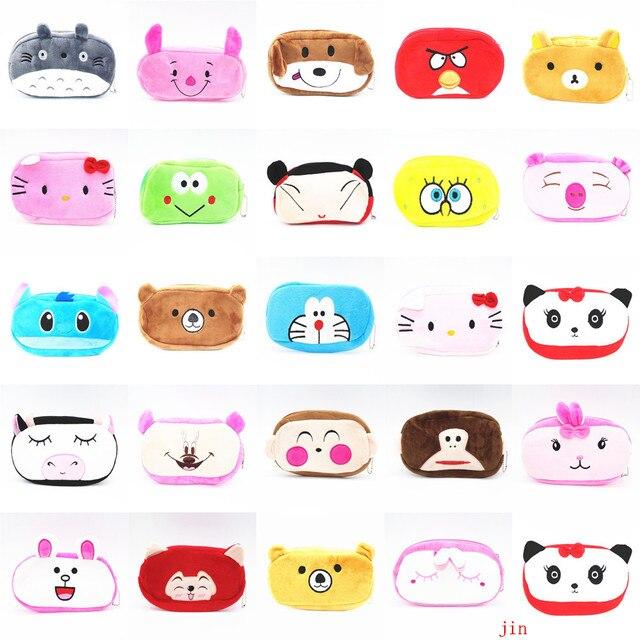 15 Color Kawaii Animal de la Historieta Lápiz De la Felpa Bolsas de Lápiz de la Felpa de Almacenamiento Titular Bolsa de Cosméticos Bolso del paquete del teléfono monedero