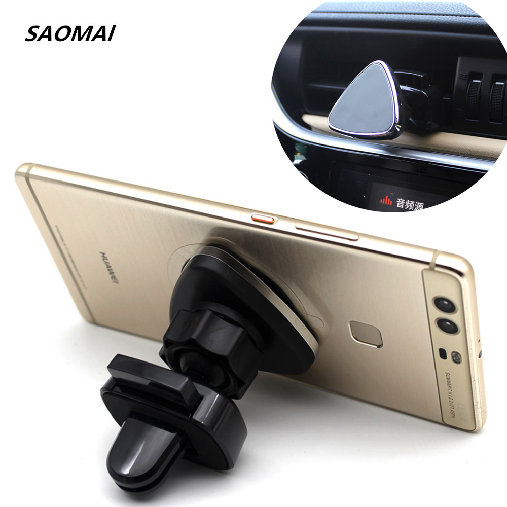 Magnetic Car Phone Holder Air Vent Outlet Rotatable Mount Magnet Phone Mobile Holder Universal For iphone Samsung Stand
