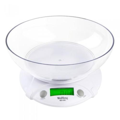 WeiHeng 1g / 7Kg Digital LCD Kitchen Scale Parcel Diet Food Cooking Weighing Bowl