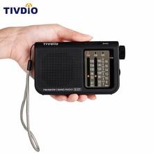 TIVDIO V-117 3 Band FM / AM / SW Radio Battery Powered Emergency Radio Receiver Portable Radio Station F9207A