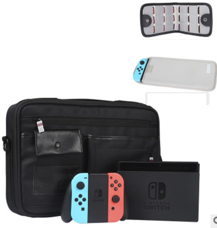 High Quality Big Bag For Nintend Switch 1 Console Case 1 Card Purse 1 Shoulder Bag Travel Protective Storage Box Shoulder eva protective hard case shell travel carrying game console storage bag holder pouch for nintend switch console with hand strap