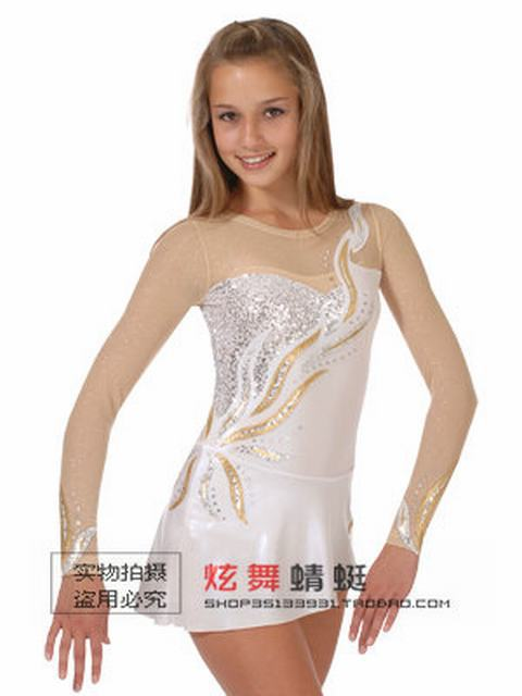 Online Shop ice skating dress pure women competition figure ...